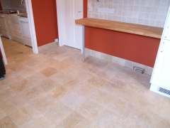 travertine floor and marble wall tile